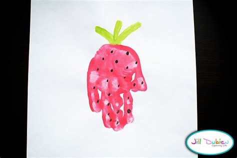 strawberry crafts for craft handprint strawberry children s activities