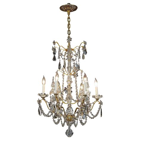 No Light Chandelier Antique 6 Light Gilt Brass And Chandelier