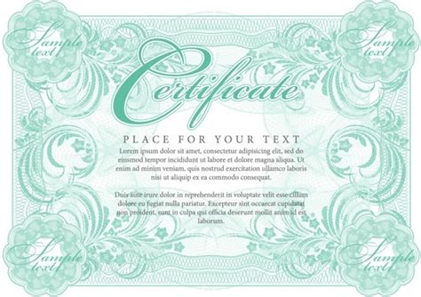 certificate of commendation 01 vector free vector in