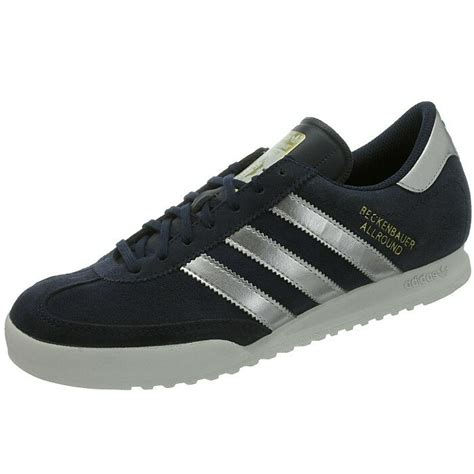 adidas beckenbauer s sneakers blue silver retro casual shoes suede new ebay