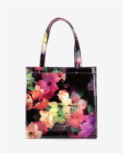 Floral Shopper Bag lyst ted baker small cascading floral shopper bag in black