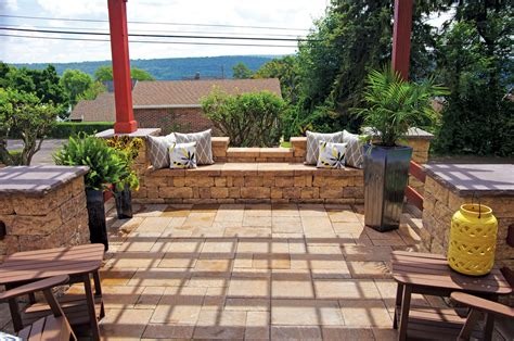 patio backyard backyard patios libertystone hardscaping systems