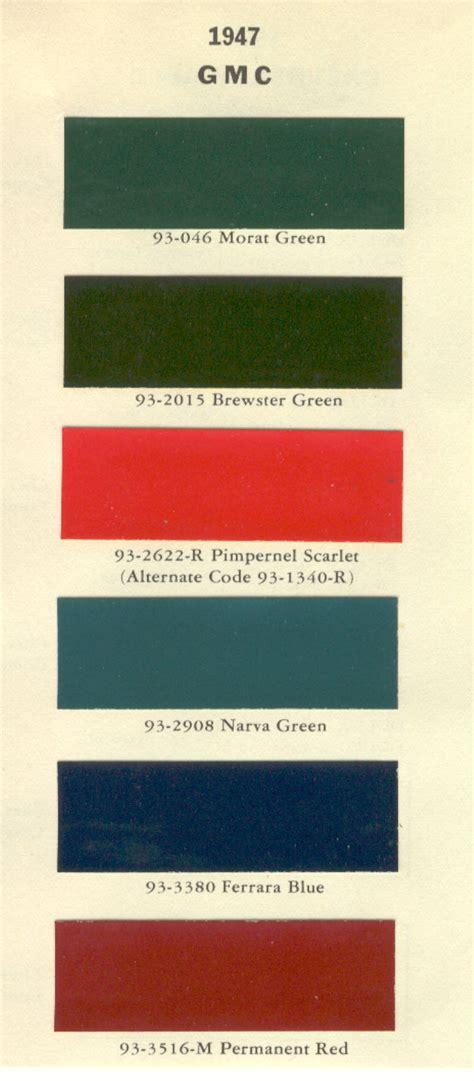 gmc paint codes autos post