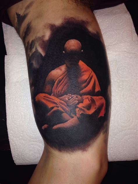 monk tattoo buddhist monk tattoos elaxsir