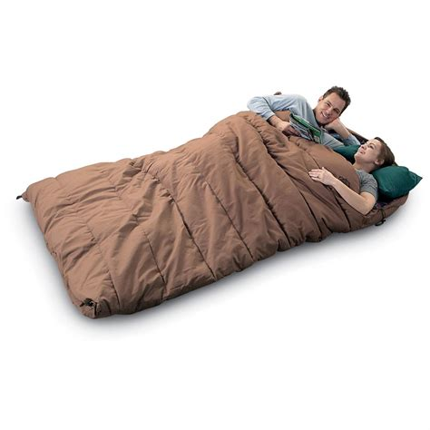 sleeping bag duo rectangle sleeping bag by guide gear 245295 sleeping bags