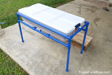 Water Tables by How To Make A Pvc Pipe Sand And Water Table Frugal For Boys And