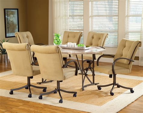 Dining Room Chairs With Rollers Plain Dining Room Chairs With Rollers Casters Ornament S