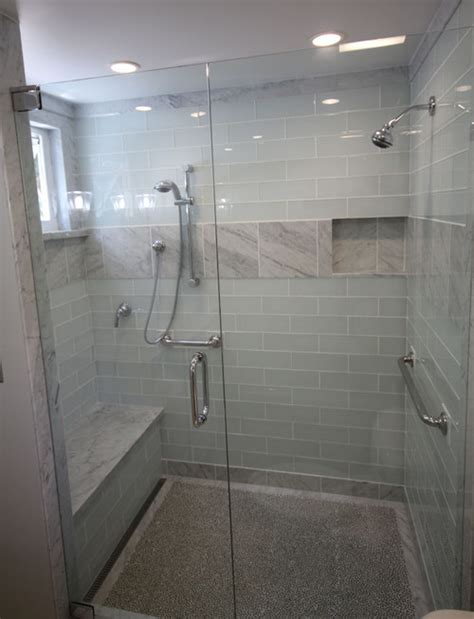 White Glass Tile Bathroom by Are These Glass Tiles A White
