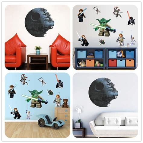 lego star wars characters for sale hot sale 3d lego yoda star wars 9 characters wall sticker