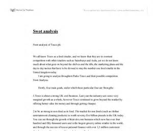 Swot Analysis Essay by Swot Essay Gallery