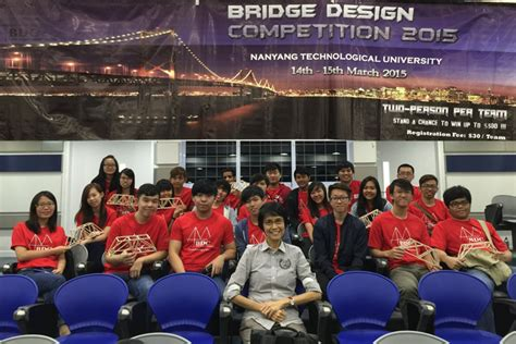 bridge design competition ntu 2016 news and announcements abe singapore polytechnic