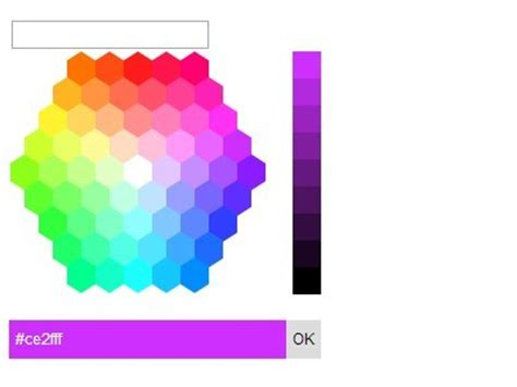 hex color selector hexagon color picker plugin with jquery and jquery ui