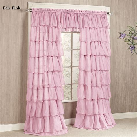 light pink ruffle shower curtain