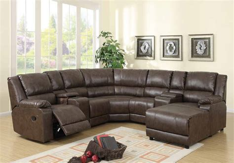 4pc Franklin Ii Sectional Recliner Chaise Couch Set Light Leather Sofa With Chaise And Recliner