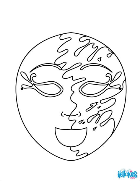 masquerade ball mask coloring page coloring pages