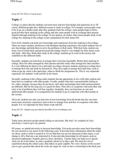 185 Essay Topics 185 toefl writing topics and model essays