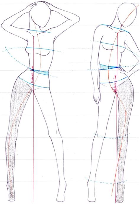 figure for drawing fashion fashion sketch pencil and in color