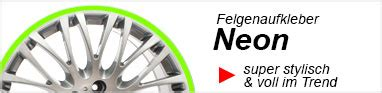 Felgenaufkleber Neon by Felgenrandaufkleber Shop Felgenaufkleber F 252 R Auto
