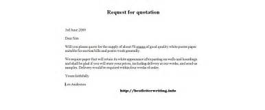 request a quote template request for quotation templatebusiness letter exles