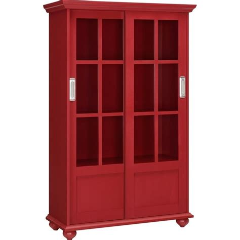 Sliding Glass Door Bookcase In Red 9448396pcom Bookcase With Sliding Glass Doors