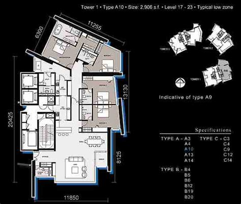 Dua Residency Floor Plan by The Troika Properties Kuala Lumpur City