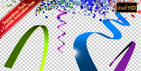 Serpentine Coil And Confetti Animation Pack 01 By Thaysoad Videohive After Effects Confetti Template
