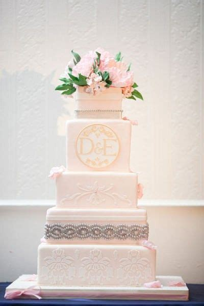 Monogram Wedding Cake by Monogram Wedding Cakes The Wedding Specialiststhe