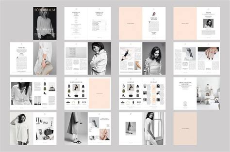 book layout design indesign indesign magazine template sodermalm magazine design
