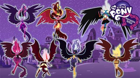 four color demons equestria humane 7 forms