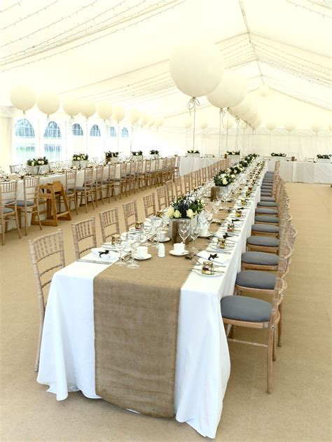 My Wedding!! Marquee, Hessian Table Runners, Large