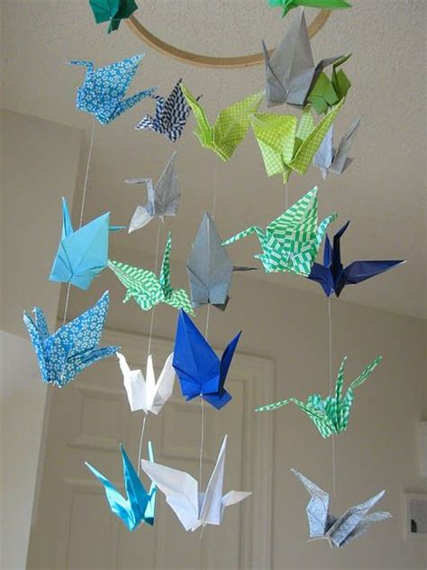 Themed Origami - origami crane mobile for quot around the world quot themed room