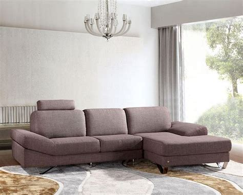 Sectional Sofa Fabric Contemporary Style Grey Fabric Sectional Sofa 44l6077