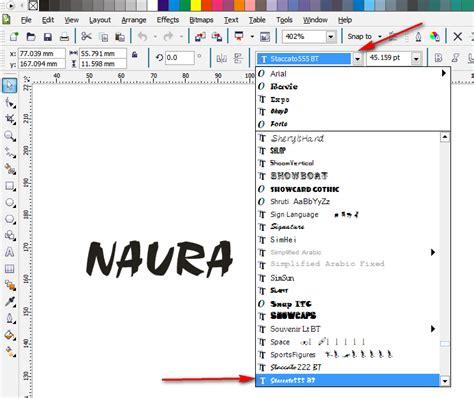 cara membuat outline tulisan cara membuat efek tulisan timbul dengan corel draw naura