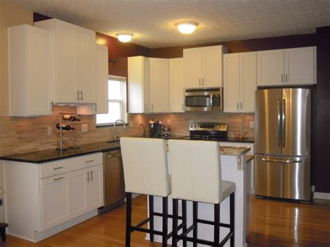 white kitchen cabinets rockford door style cliqstudios contemporary kitchen