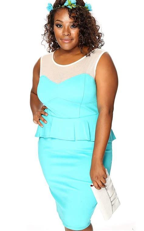 Mini Dress Biru Turqoise Size S plus size turquoise dresses pluslook eu collection