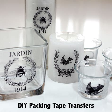 diy packing tape transfers  graphics fairy