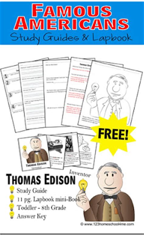 thomas edison biography for middle school free biographies study guide free homeschool deals
