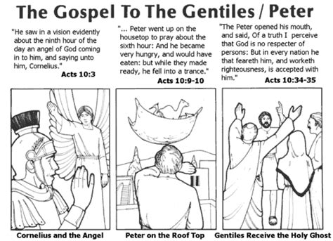 crafts for peter and cornelius bible story