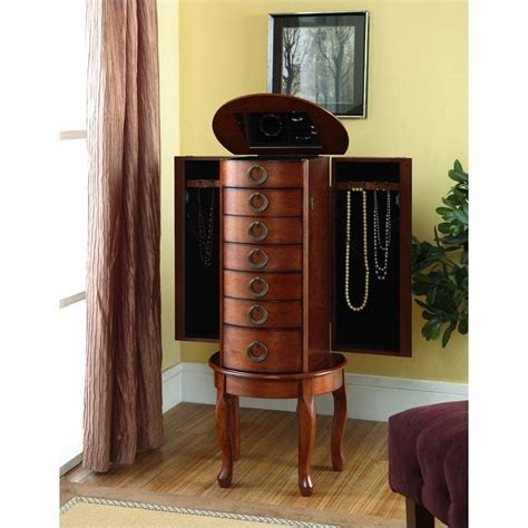 powell jewelry armoire cherry powell jewelry armoire in woodland cherry 605 318