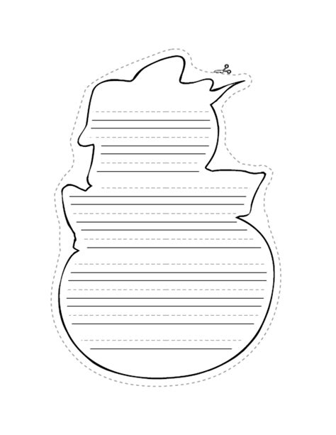 snowman writing paper 5 best images of free printable snowman lined writing