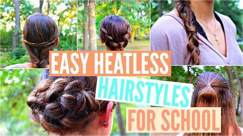 4 back to school heatless hairstyles easy back to school heatless hairstyles