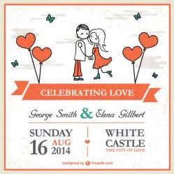 40 plantillas vectorizadas para invitaciones de boda