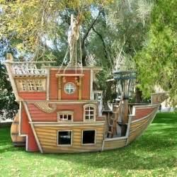 Design A House For Fun Pirate Ship Play House Design Adding Fun To Kids Backyard