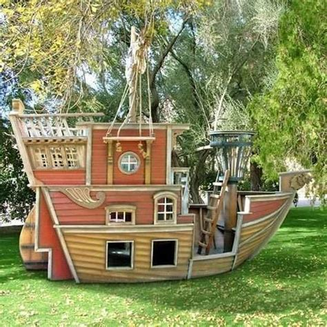 ship house design pirate ship play house design adding fun to kids backyard ideas