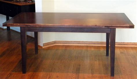 handmade pull or draw leaf dining table by