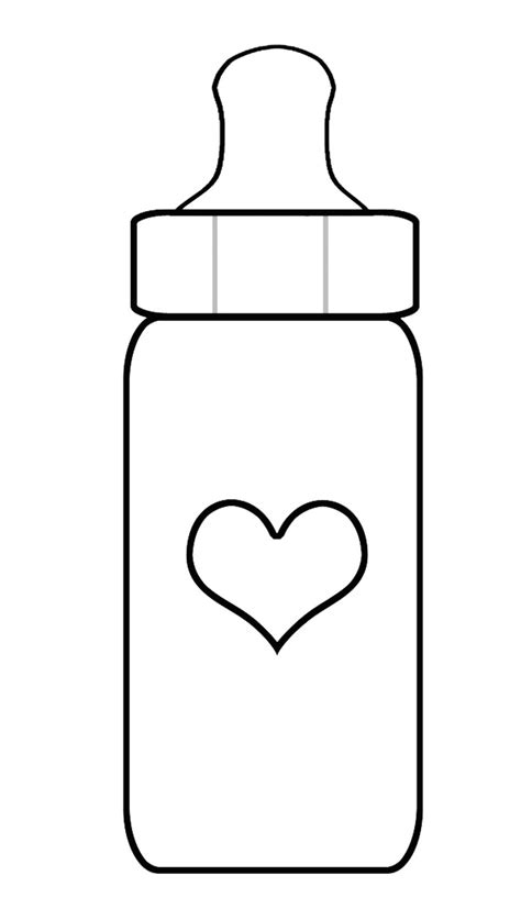 best photos of baby bottle outline printables free