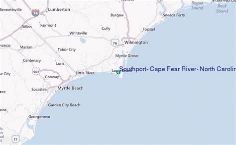 cape fear carolina map southport cape fear river carolina tide station