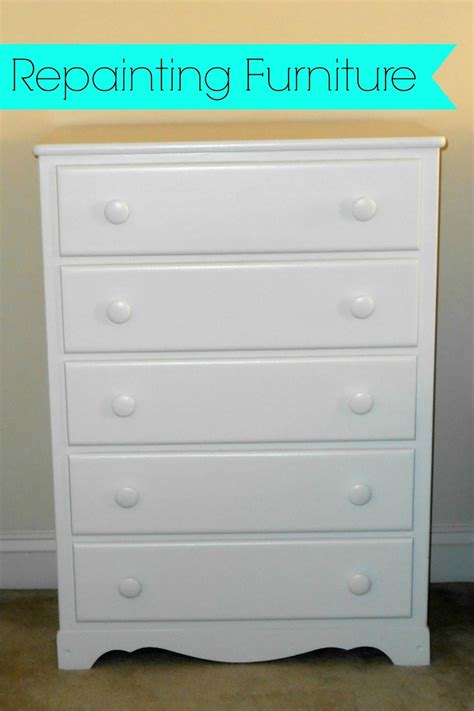 Repainting Dresser by Apathtosavingmoney Repainting Wood Furniture
