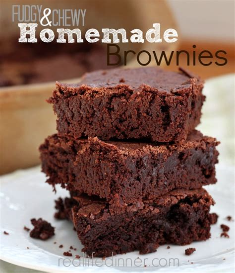 Fudgy Chewy Brownies fudgy chewy brownie recipe real dinner