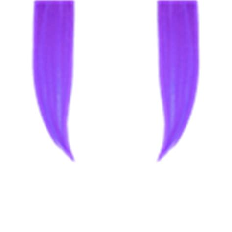 purple hair extensions roblox